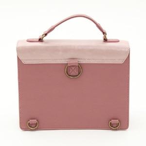 Image 4 - Alice In Wonderland Shoulder Bags axes femme vintage student schoolbag playing cards Silhouette handbag leather bag