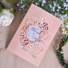 30pcs/lot Bronzing Openwork Pink Paper Card High-end Personalized Party Invitationbirthday Wedding Engagement Invitations