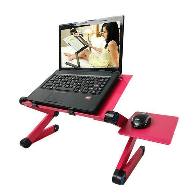 Liga de alta qualidade moda estilo europeu pode dobrar computador deskaluminum laptopr aprendizagem mesa toalha de mesa 48*26 cm