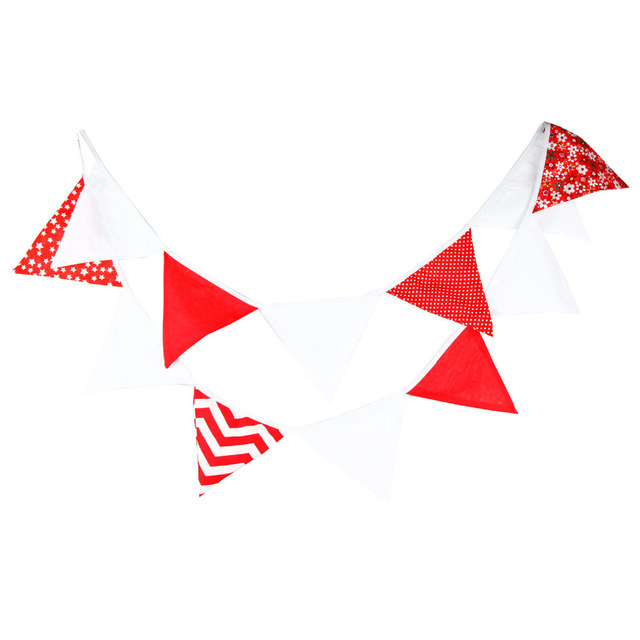Aliexpress buy 1pcs 32m red flower white star wedding 1pcs 32m red flower white star wedding decorate bunting banners children birthday party decoration flag mightylinksfo