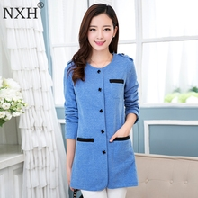 NXH 2017 New Arrival Spring Autumn Women's fit thin jackets Simple Long sleeve Veste Female Clothing lady's Blazer suit Tops