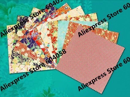 "6""x6"" (14x14cm) chiyogami yuzen paper for crafting scrapbooking origami finger play Japanese paper"