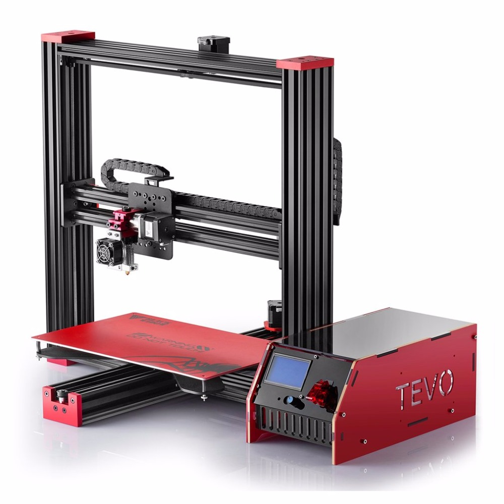 2017 New for TEVO Black Widow Large Printing Area 370 *250*300mm OpenBuild Aluminium Extrusion 3D Printer kit with MKS Mosfet