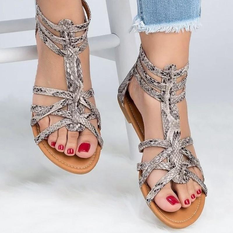 Para Grande Talla Sandalias 43 Sandalia 42 Romanos Mujer Verano Planas 4 Zapatos Dorada kXuiOPZ