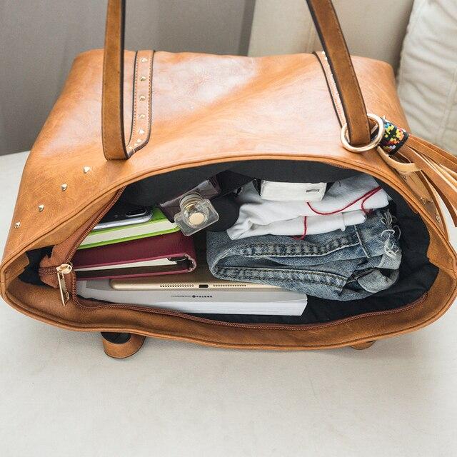 Rivet PU Leather Women Shoulder Bag 3