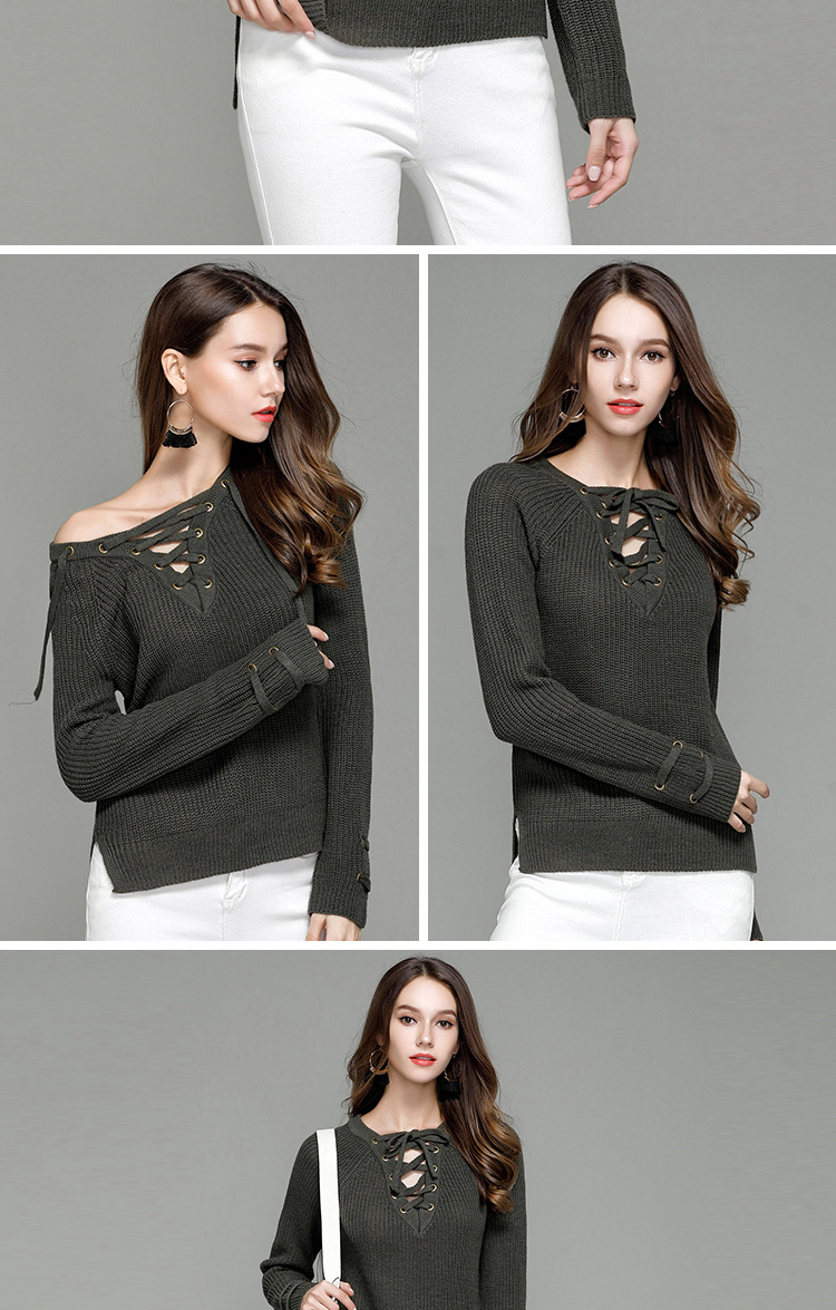 HTB1ffcoSXXXXXaOXpXXq6xXFXXXV - Sexy V-Neck With Knitted Long Sleeve Sweater JKP286
