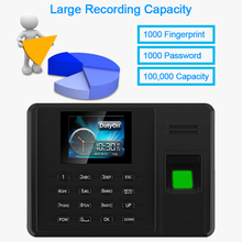 цена на Time Attendance Fingerprint TCPIP USB Password Office Time Clock Employee Recorder Electric Biometric Fingerprint Attendance