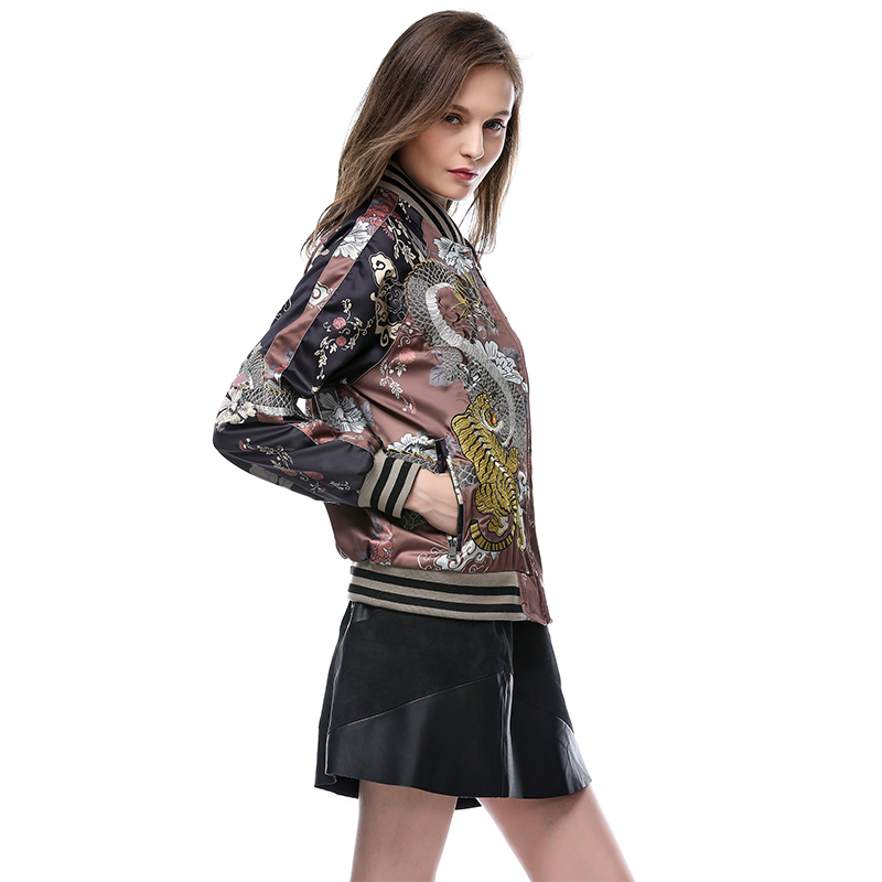 Le The Europe Broderie Femelle Picture Dans Et Printemps Côtés Une 2018 Feminina Tiger Hot Style Veste Nouvelle Yokosuka Color Les De Deux Jaqueta Sur Heavy fPEwxqBCn