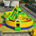 2014 china fabricante fornecedor comercial inflável combo slide