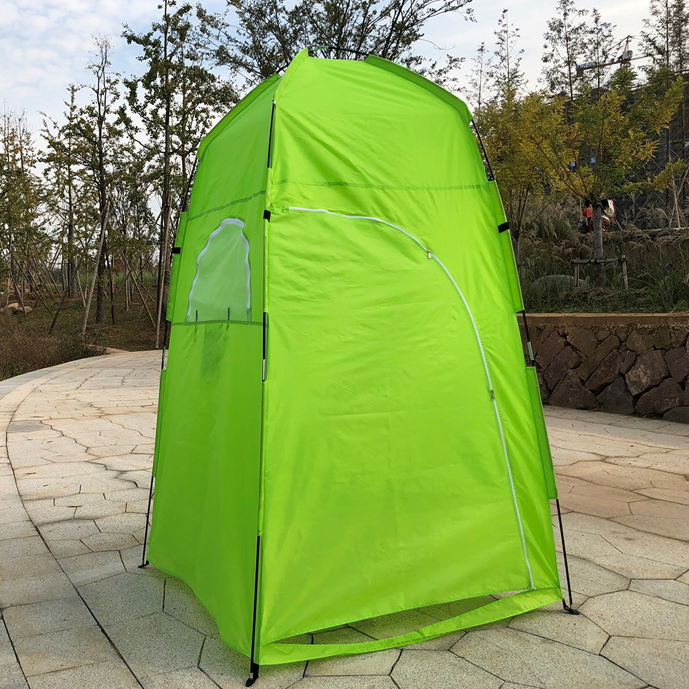 TOMSHOO Portable Camping Tent  With Large Zippered Door Used As Forest And Mountain 12