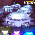 NEW DHL Free Shipping Rechargeable Portable Under Table Light With Remote Controller For Wedding Events Table Lighting