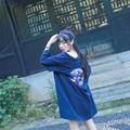 """Summer Harajuku Cool Women's Japanese Kimono Style Trench """"Take It Easy"""" Cartoon Embroidery Loose Outwear"""