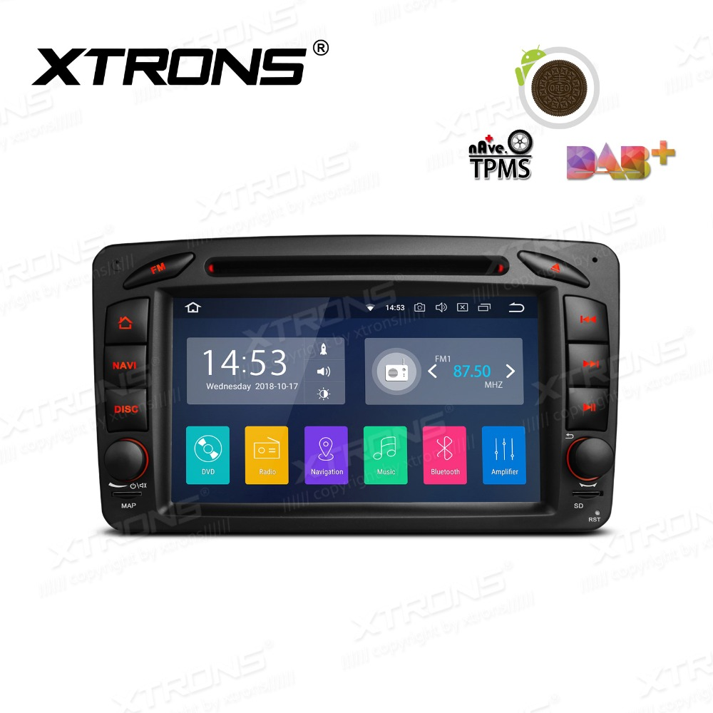XTRONS 7 Android 8,1 с радио, GPS, WiFi dvd плеер автомобиля для Mercedes Benz A W168 C Class W203 clk класса W209 C209 G Class W463 W639