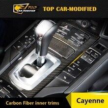 Бесплатная доставка углеродное волокно замена деталей интерьера and детали отделки and деталей автомобиля для Porsche Cayenne