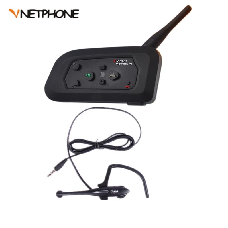 Wireless Bluetooth Football Referee Full Duplex Intercom Interfone Headset BT Interphone with FM 1000M V4C