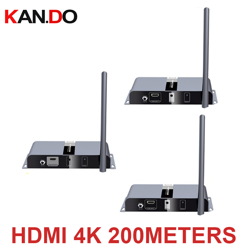 4K 60Hz 5.8G Wireless AV HDMI HDbitT Transmitter Receiver Kit 200M Wireless Extender 4k Video Transmitter 2 Receivers For HDMI