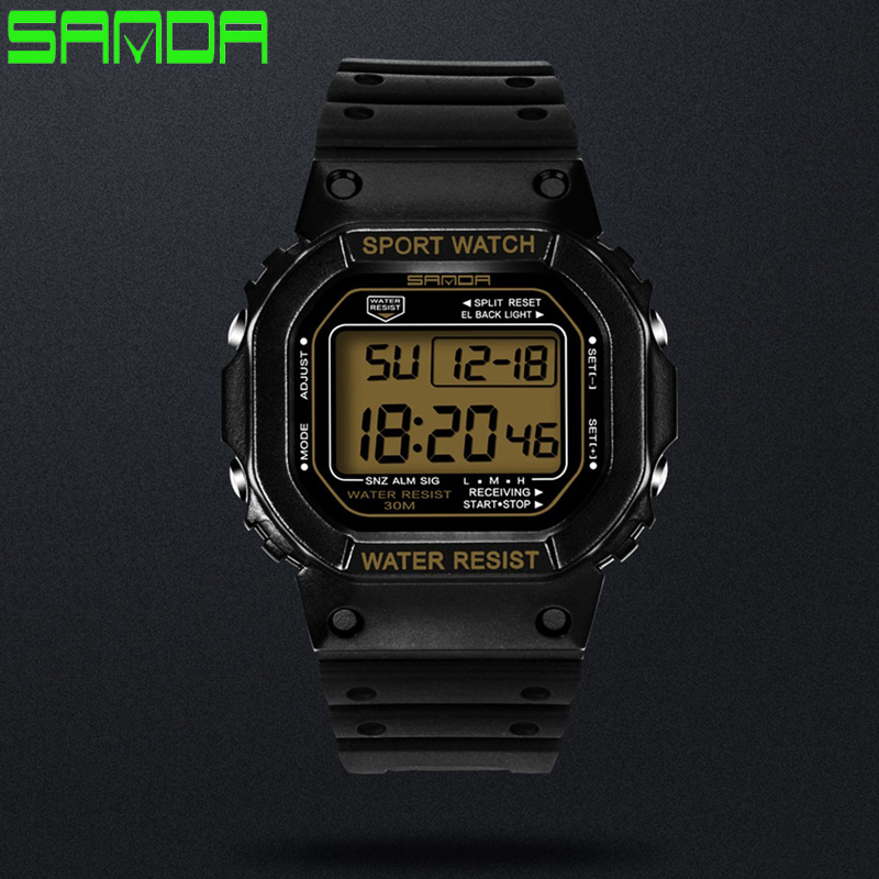 Sanda Herenhorloges elektronisch led Montre homme sporthorloge - Herenhorloges - Foto 2