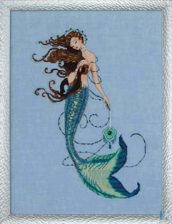 Gold Collection Counted Cross Stitch Kit Renaissance Mermaid Submarine Md 151
