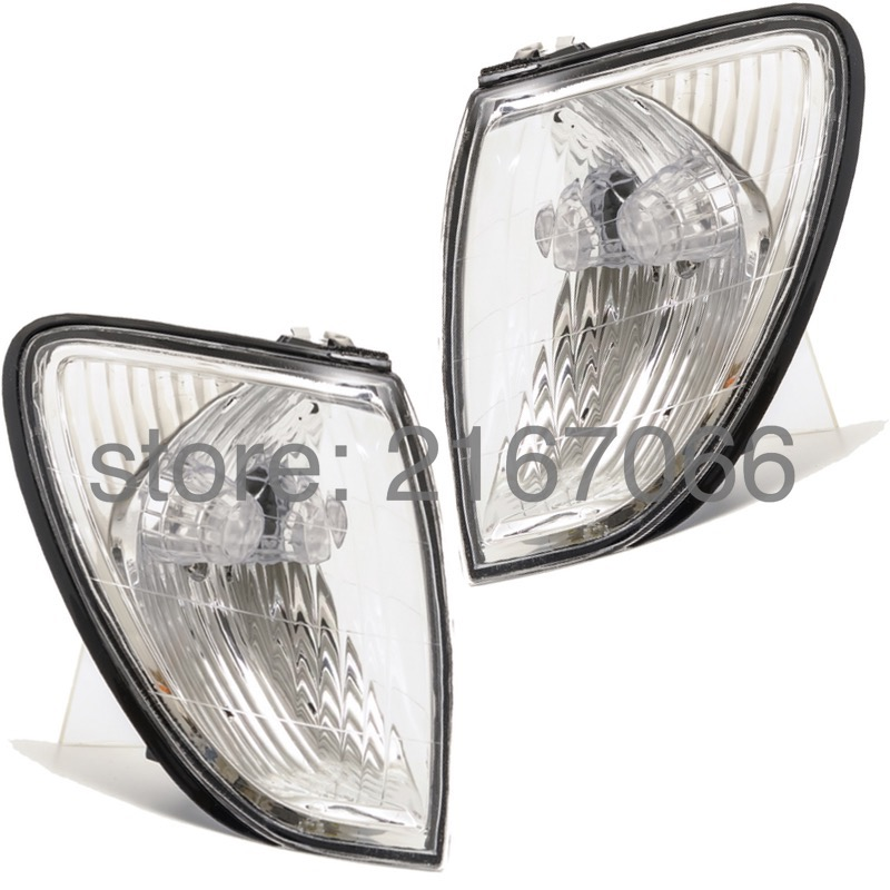 Front Turn Signal Light fits Toyota Land Cruiser 100 - 2000 2001 2002 2003 2004 2005 White Marker Parking Corner Pair