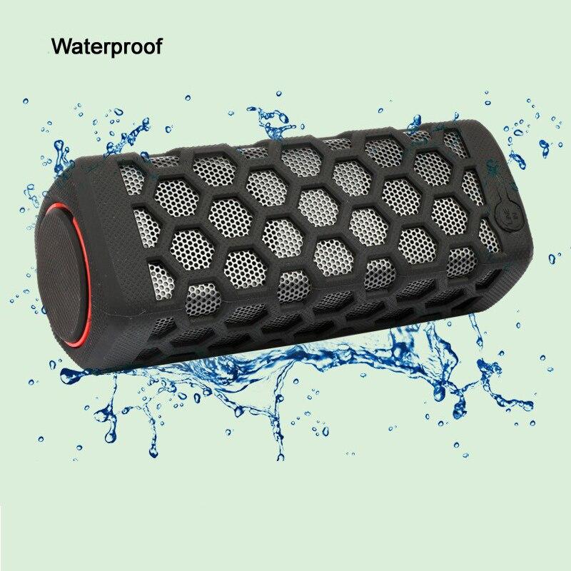 10W Sports Outdoor Waterproof Portable Bluetooth Wireless Speakers Bike Sound Box With 7000Ma Power Bank Loudspeakers