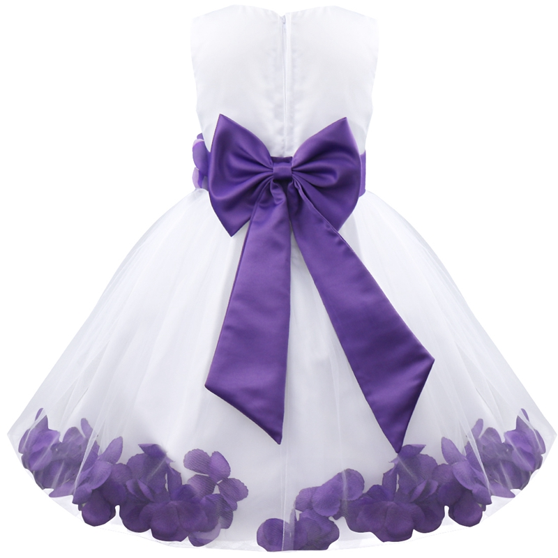 2017 Infantil Kids Petals Vestido Elegant Flower Girl Dress Toddler ...
