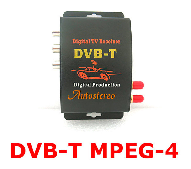 цена на Digital TV Dual Tuner Receiver Box Tuner for Car In Car Digital TV DVB-T MPEG-4