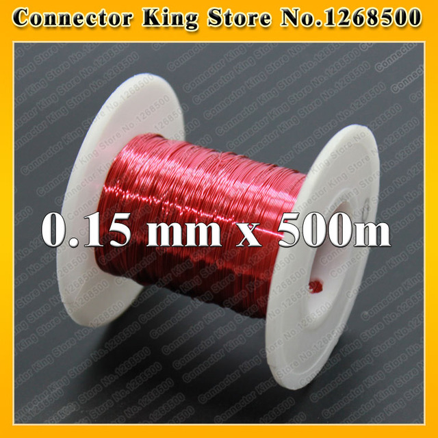 500 m Free shipping 0.15 mm red new polyurethane enameled copper wire QA-1-155 copper wire 0.15 x 500 meters/pc