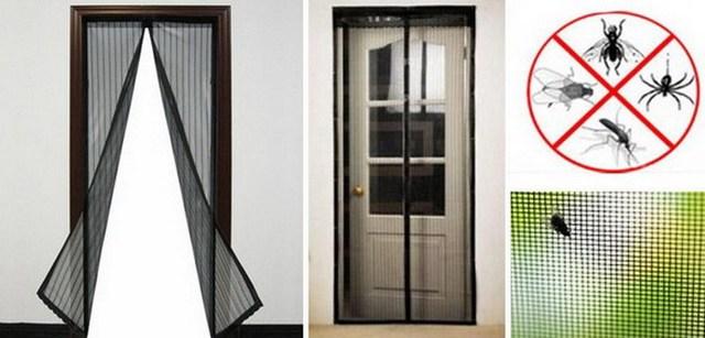 Magnetic Magic Mesh Insect Screen Door
