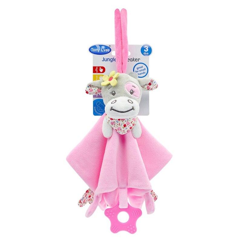 Bébé doux en peluche Animal poupée jouet infantile apaiser serviette saisir hochets Playmate calme jouets