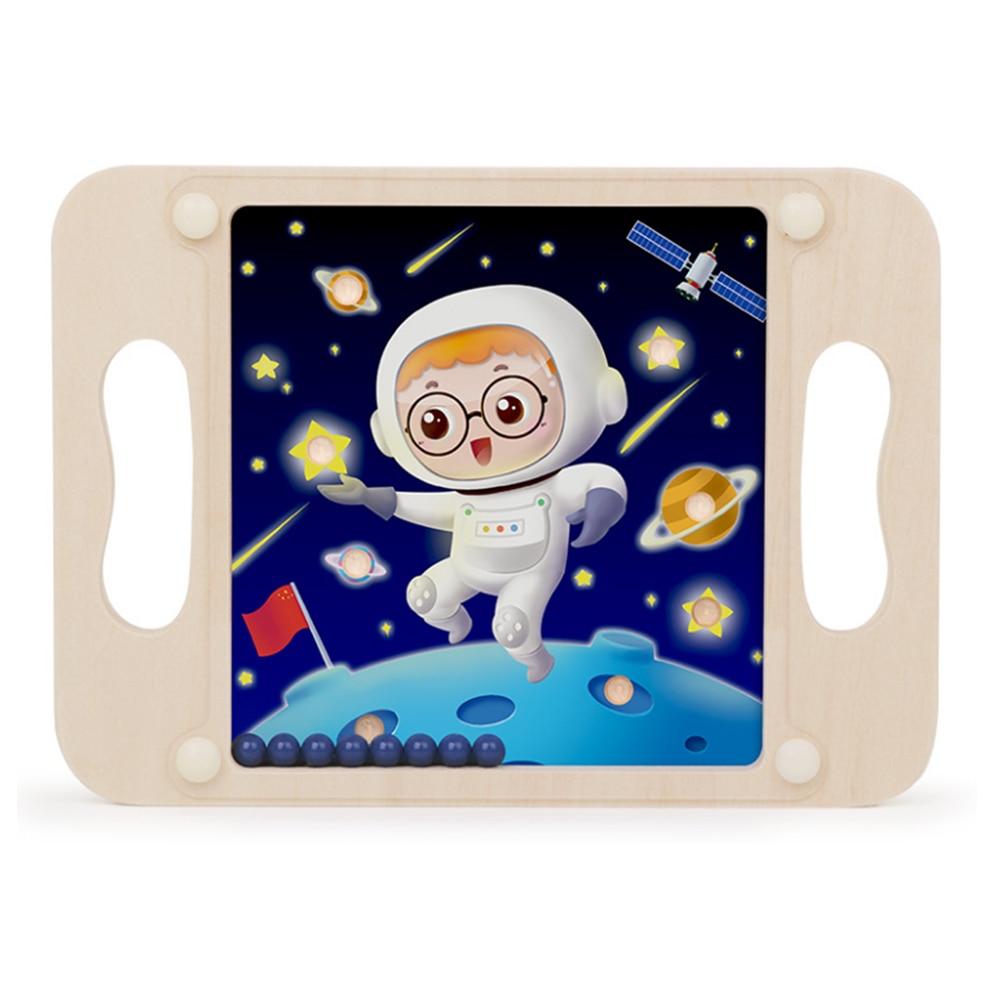 1ee5373be337 Pelota de equilibrio de Madera Juguetes educativos juguetes creativos  cuentas bolsillo 3-6 AÑOS ...