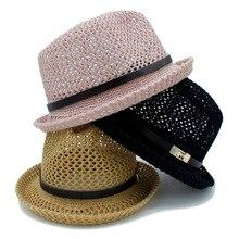 2017 sombreros de verano para las mujeres hombres sombrero plano carta papá  boater Fedora papá plana 40df443f5a92