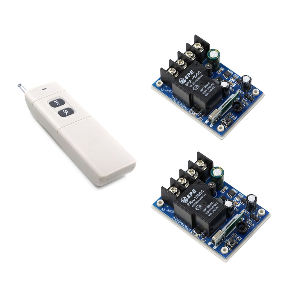 Motor Water Pump Machine High Load RF Remote Switch DC 12V 24V 36V 48V 30A Relay Wireless Lighting Switch Remote and Receivers free shipping 20s 84v li ion lipo battery protection board e bike li ion lipo battery bms 40a continuous discharge