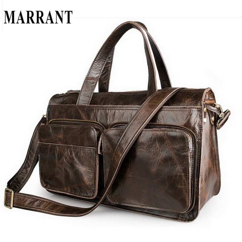 MARRANT Men Bags Genuine Leather Man Briefcase Men's Business Crossbody Shoulder Messenger Bags Laptop Handbag Male Travel Bag