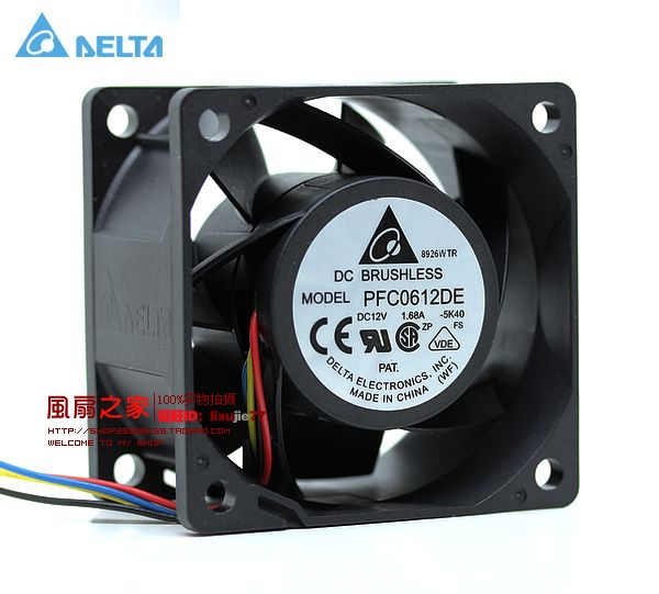 Delta 6CM 60MM 60*60*38MM 6038 12V 1.68A super violent winds of support PWM fan PFC0612DE 60