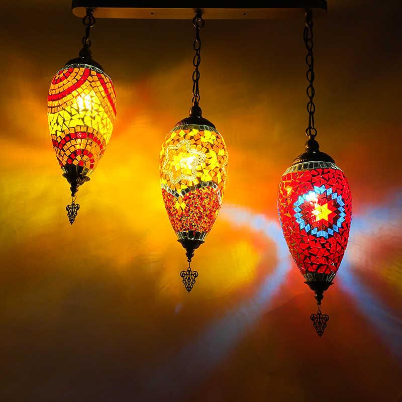 Богемия турецкий подвесной светильник led витражи средиземноморской кухни бар вход коридор балкон подвесные светильники