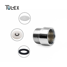 "TULEX Bathroom Accessories G1/2"" Thread 8L/Min Water Saving Shower Head Aerator Bubbler Spout Filter Faucet Aerator Tap Filter"