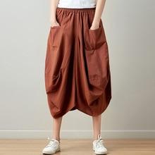 Johnature, новинка, летние юбки, повседневная клетчатая юбка с карманами, разноцветная Плиссированная Юбка До Колена, натуральная удобная женская юбка
