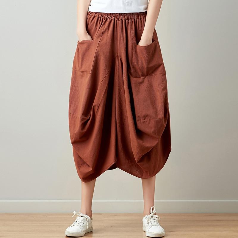 Женская плиссированная юбка Johnature, повседневная разноцветная юбка в клетку длиной до колена с карманами, для лета, 2020|Юбки|   | АлиЭкспресс