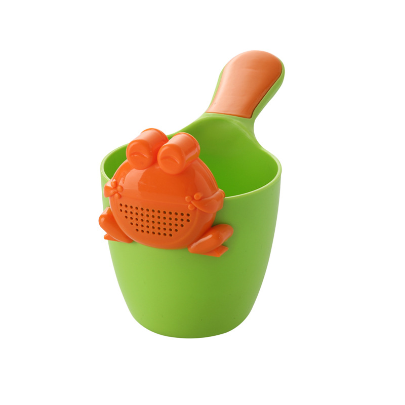 Baby Infant Children Shower Bath Toys Shampoo Shower Tool Kids Hair Washing Cup Rinser Gift M09