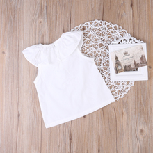 Newborn Baby Girls T shirts Summer White Clothes