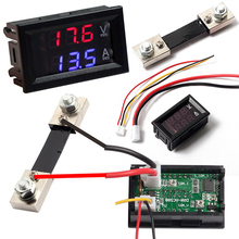 DC100V Dual Display 100A Digital Blue Red LED Voltmeter Ammeter Amp Volt Meter Current Shunt High Quality 0 28 led dual display digital current voltmeter shunt black 50a 75mv
