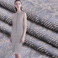 New Ripple Yarn Style Jacquard Fabric Spring And Autumn Summer National Style Windbreaker Dress Suit Cloth