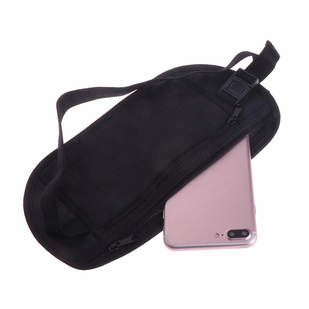 Travel Pouch Hidden Zippered Waist Belt Bag Security Wallet Passport Run Pocket Sports Bags Running Bags