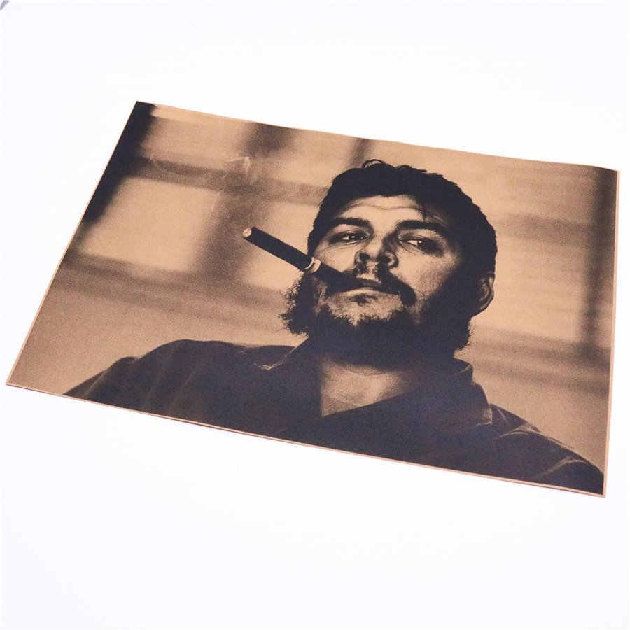 Che Guevara Vintage Kunst Kraft Papier film Poster Retro Home Dekorative Gemälde Wand Aufkleber Retro bild 42x30cm