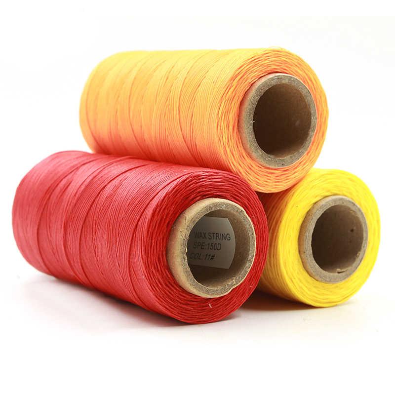 Alta calidad 260M 150D plana Sew Wax Line hecho a mano DIY para cuero 1MM encerados lisos costura manual línea costura a mano