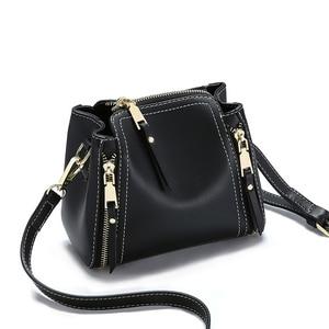 Image 5 - Baitao Slant мини сумка на одно плечо, из натуральной кожи, для девочек, 2019