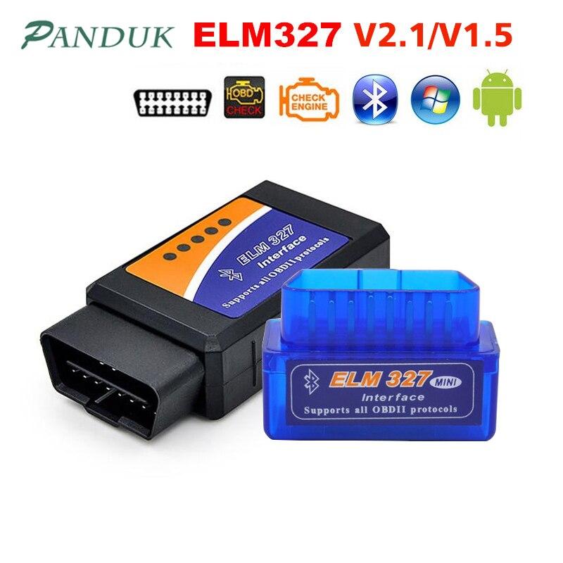 PANDUK date ELM327 V1.5 Bluetooth OBD2/obd ii v2.1 voiture Diagnostic voiture outils Android Auto Diagnostic outil Obd2 Scanner