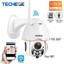 Techege HD 1080 P Беспроводной Проводная ip-камера телеметрией двухстороннее обсуждение 2MP видеонаблюдения Камера TF хранения Открытый Водонепроницаемый приложение для просмотра