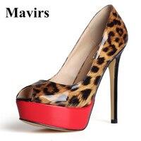 Mavirs 2017 Fashion Peep Toe Platform Brand Large Size Footwear Women High Heels Pumps Female Stiletto