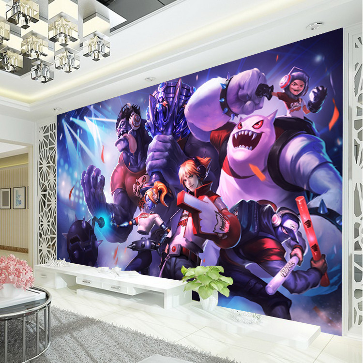 League of Legends Photo Wallpaper Game Wall Mural Custom Silk Wallpaper Art decoration Boys Bedroom Children room Room Decor LOL комбинезон женский troll цвет черный tkb0023ca размер xl 50